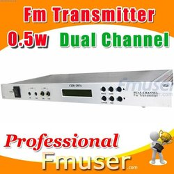 18FSN Dual Channel fm transmitter 0.5w rca fm transmitter