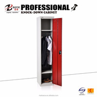 Factory direct iron clothes locker with hanging rods