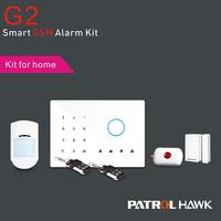 GSM intelligent alarm system, Touch keypad GSM intelligent auto-dial alarm system, smoke gas pir sensor PH-G2