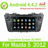 Hot selling Android 4.4 Car dvd gps with morror link/OBD /TPMS for Mazda 5 auto radio system