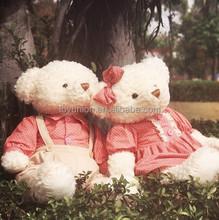 2015 new semifinished bear toys teddy bear skins wholesale unstuffed plush animals,gun plush toy