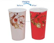 Cheap Promotional Ice Cold Color Changed Plastic Cup For Kids Present