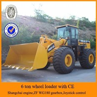 CE certification front end wheel loader zl-60g,joystick control,hydraulic front end wheel loader zl-60g for sale