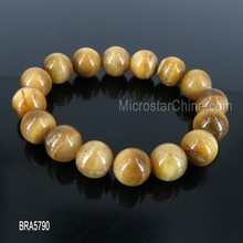 2015 Hot Summer Women's Unisex 12mm Round 100% natural Gemstone Stretchy Bracelet For Gift