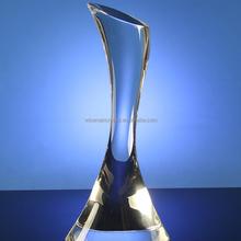 Semplice e moderno a forma di trofeo di cristallo/premio di cristallo