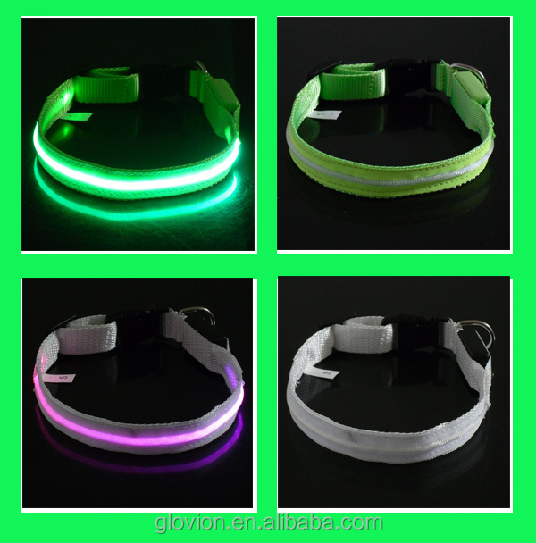 Pop hot led lighting brilliant green led pet dog collars