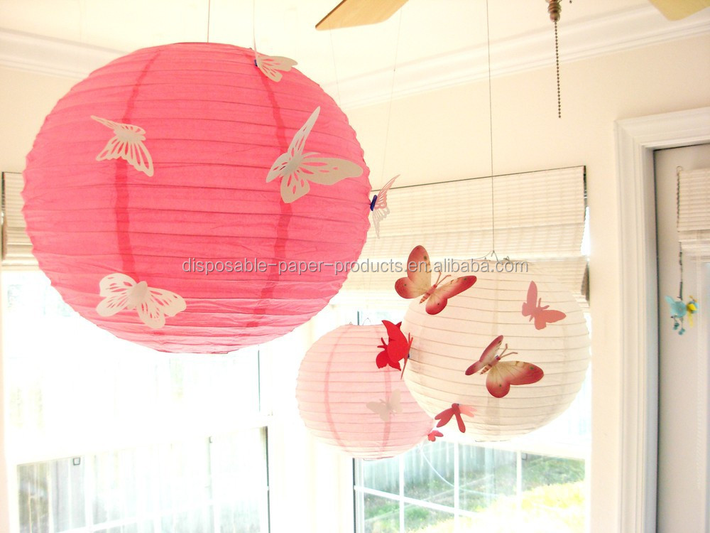 Decorative Chinese Lanterns Butterfly Lanterns Wedding Decor Ideas