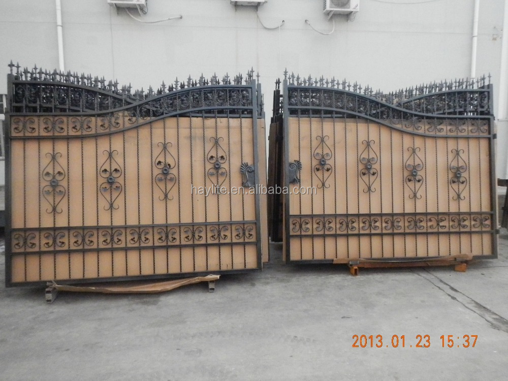 Moderne jardin cl ture de porte en m tal forg fer portail for Portail jardin metal