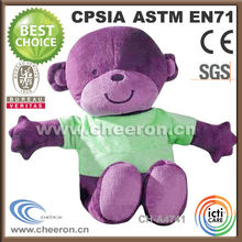 A variety of holiday plush stuffed plush monkey toy