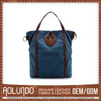 Low Cost Hot Design Customized Denim Fabric Handbags