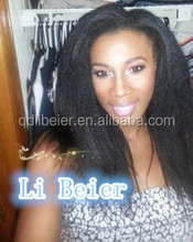 Fashionable Yaki Wig Indian Virgin Human Hair 6A Quality Cheap Price Lace Front Wig For Black Women