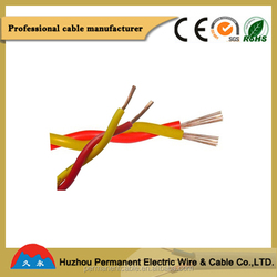 Textile 2 Core Power Cable Fire Resistant Twisted Pair Cable Electric Heating Cable