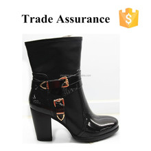 2014 China Manufacturer Wholesale Cheap New Style Fashion Ladies Winter PU Boots