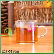 heat-resistant glass tea/coffee/water cup with handle