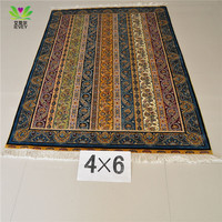 230 Lines 4*6ft chinese turkish hand knotted persian silk carpet