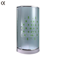 ABS tray printed glass aluminum frame shower enclosure