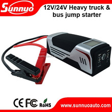 12V/24V heavy duty truck /big bus Multi-function Portable auto Jump Starter/Car Emergency Power Supply with 30000mAH