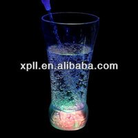 New Plastic LED Flash Cup Glass Holder Clear For Party