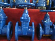 "DIN F4 2"" no rising stem soft seated gate valve PN10/PN16"