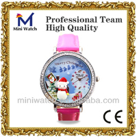 2013 Hot Sale Fashion Design Korea Mini Watch Durable Japan Movement Merry Chistmas Gift Watches