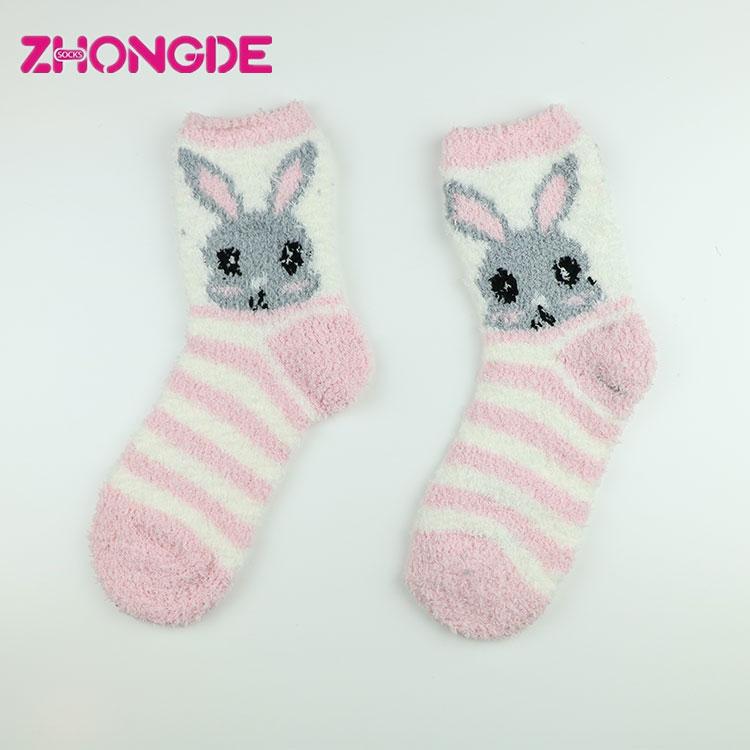 Birçok stil özel made bulanık çorap noel unisex