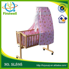 High quality new designer baby cradle/comfortable wooden baby bed for baby