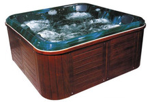 luxury soaking bath tub with tv and 51 massage jets