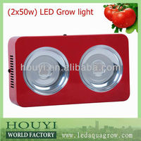 2013 the newest design 2*50 w led grow lights cheap review from Shenzhen factory manufacturer