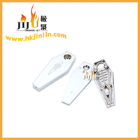 JL-140 Yiwu Jiju Smoke Machine Clip Silver Smoking Pipes Zinc