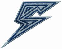 FLASH lightning bolt logo EMBROIDERED PATCH