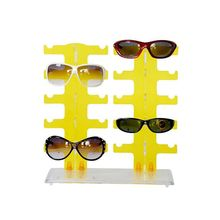 fashional acrylic sunglass display case,plastic injection showcase,wall display shelves wall mount display case