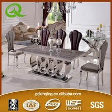 TH382 modern stainless steel dining table legs modern dining table set modern dining table