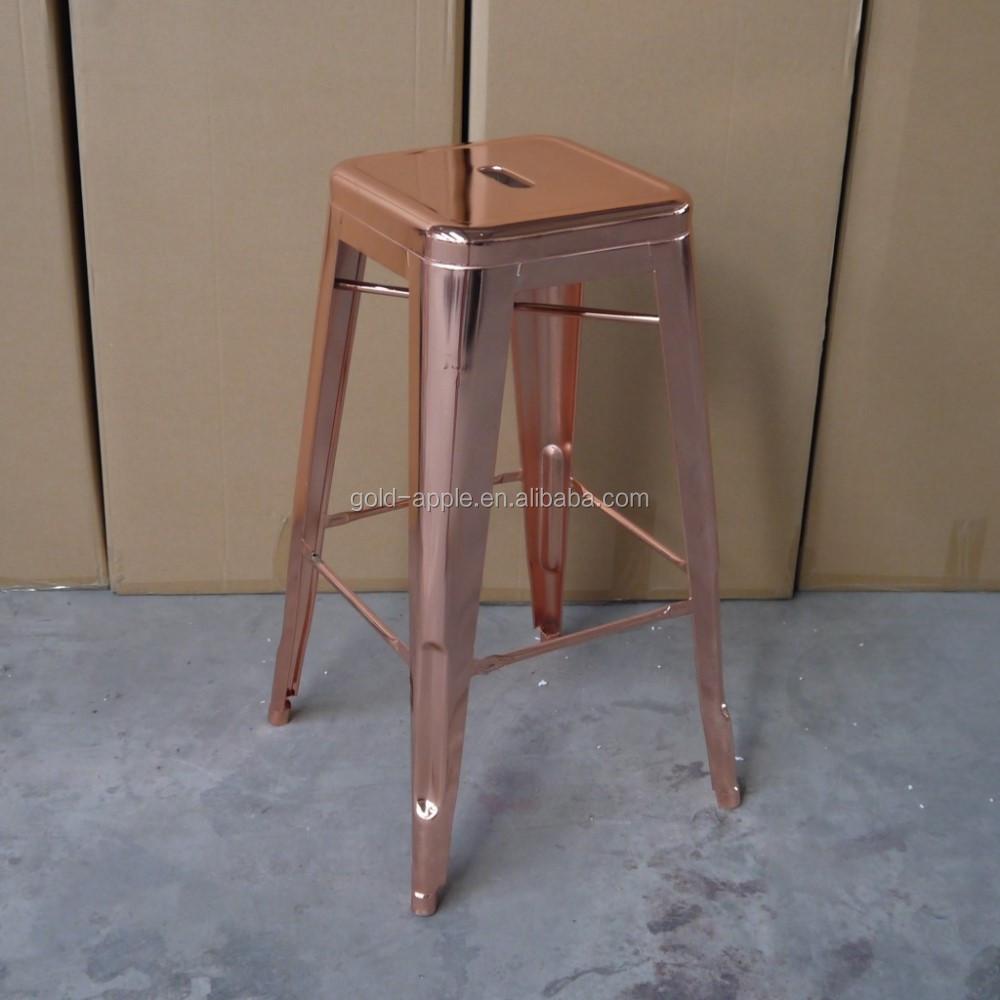 unique metal gilt bar stools