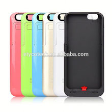 Wholesale brand new protective rechargeable battery power bank case with kickstand function made for iphone6 plus