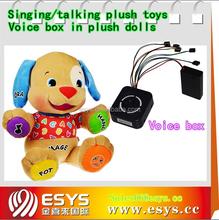 Provide christmas animal singing dog plush toy