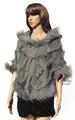 China cx-b-104 suéters fabricante con conejo de piel con capucha