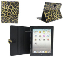 Top grade wholesale price folio stand leopard print case for ipad mini 2/mini 3