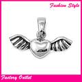 nova moda açoinoxidável angel wing colar jóias amor