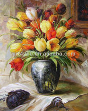 beautiful oil painting pictures of flowers on canvas ( HKFP_235)