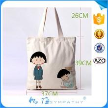 cotton reusable shopping tote bag with logo