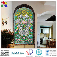 Alibaba 2015 best selling cheap price murano tempered glass wall art panels