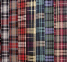 factory price polyester cotton check shirt fabric
