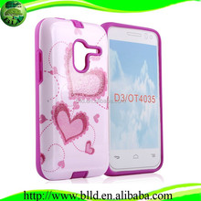 DIY personalised customized printing phone case cover for Alcatel one touch pop d3 4035