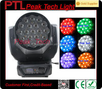 Hot selling!!Promotion!!19pcs 10watt rgbw 4 in 1 led wash moving head zoom/aura machine