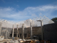 Swimming pool Brazil steel space frame system building