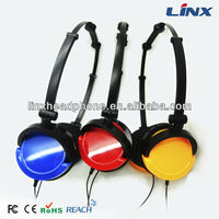Mix-style colorful star headphones fashion headphone for computer without microphone LX-125 headset