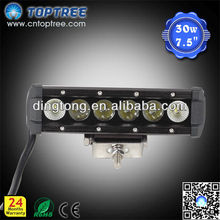 7.5'' Off Road LED Light Bar Single Row 4x4 Driving Light CE RoHs
