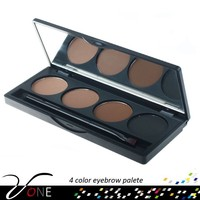 Trade Assurance 4 Colors Eyebrow Powder Brush Palette Eye Make up Palette