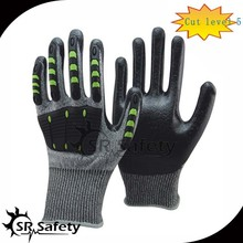SRSAFETY high protective impact gloves/impact resistant glove
