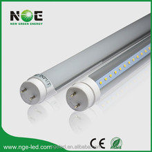 CE RoHS 115lm/w CRI>80 PF>0.90 frosted & transparent cover tube led t8 150cm